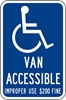 ISI95: DISABLED SYM W/VAN ACCESSIBLE  ($ FINE) 12X18