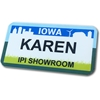 Name Tags / Name Badges, Iowa License Plate Design