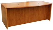 Lofthus Double Pedestal Desk, Bow Front, 36x72