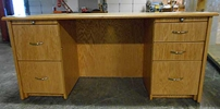 Lofthus Double Pedestal Desk, 30x66