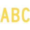 "7"" C Series Letters Upper Case Cut-Out Yellow"