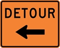 M4-9L: DETOUR W/ ARROW LEFT 30X24