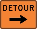 M4-9R: DETOUR W/ ARROW RIGHT 30X24