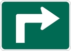 M5-1R: BICYCLE RTE ADVANCE TURN ARROW RIGHT 12X9