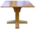 Mission Pedestal Table, Solid Oak Top