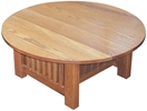Mission Cocktail Table, Oak Top