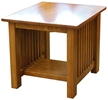 Mission End Tables, Rectangular, Oak Top