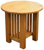 Mission End Tables, Round, Oak Top