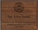 Rectangle Plaque, Walnut, 13x10.5