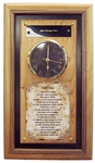 Take Time Plaque with Clock