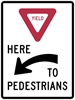 R1-5AL: YIELD HERE TO PEDESTRIANS LEFT 36X48