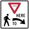 R1-5R: YIELD HERE TO PEDESTRIANS RIGHT 36X36