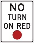 R10-11: NO TURN ON RED 24X30