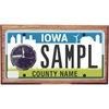 License Plate Plaque with Clock, Small