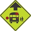 S3-1: SCHOOL BUS STOP AHEAD (SYM) 48X48