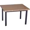 Steel Frame End Table, Oak Top