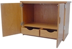 Wood Storage Cabinet, Desktop Height