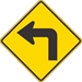 W1-1L: LEFT TURN SYMBOL 30X30 - FW1-1L-30X30