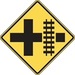 W10-2: RR CROSS-INTERSECT WARN SYMBOL 30X30