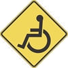 W11-9: HANDICAPPED CROSSING SYMBOL 48X48