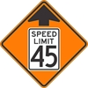 W3-5: REDUCED SPEED AHEAD SYM (#) 30X30