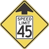 W3-5: REDUCED SPEED AHEAD SYM (#) 48X48