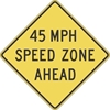 W3-5A: (#) MPH SPEED ZONE AHEAD 48X48