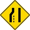 W4-2L: LANE ENDS LT MERGES RT SYMBOL 48X48