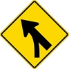 W4-5L: ENTERING ROADWAY MERGE LEFT SYMBOL 36X36