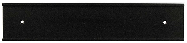 Nameplate Wall Holder 10x2, Black