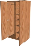 Wood Wardrobe Storage Cabinets, Full Height