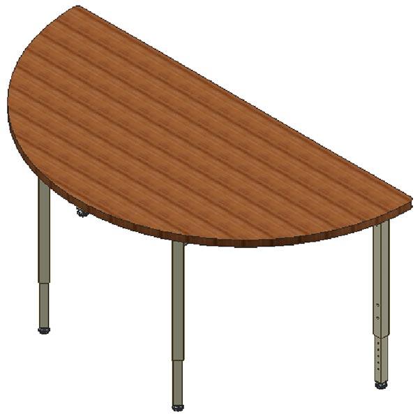 Modular Conference Table, Half Circle, 24x48