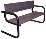 Round Tube Benches, Cantilever Style