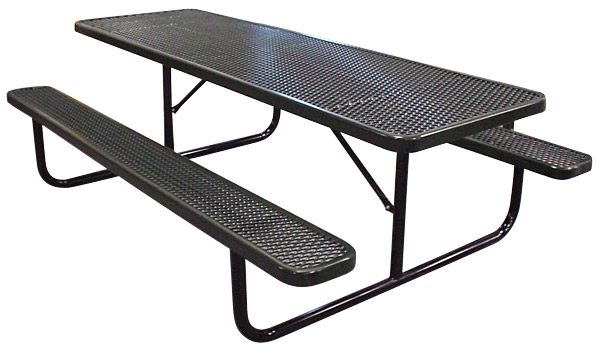 PolyCoated Metal Picnic Tables Iowa Prison Industries - Black metal picnic table